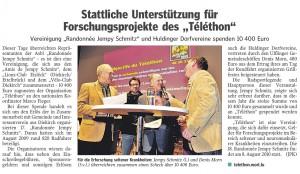 """Stattliche Unterstützung für Forschungsprojekte des """"Téléthon"""""""